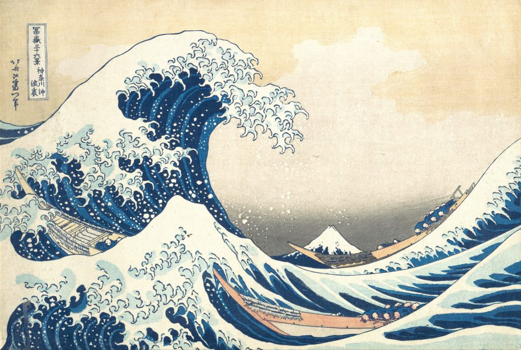 Wielka fala wKanagawie, Katsushika Hokusai